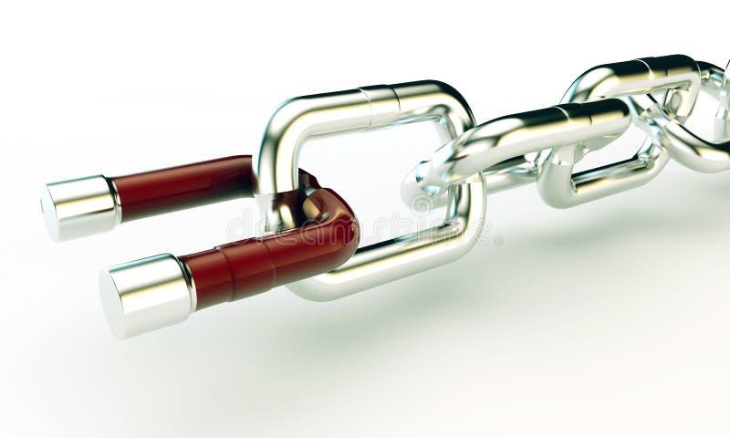 Magnetische ketting vector illustratie
