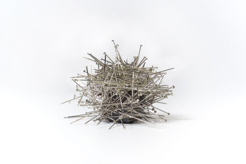 Magnetische Nadeln stockbilder