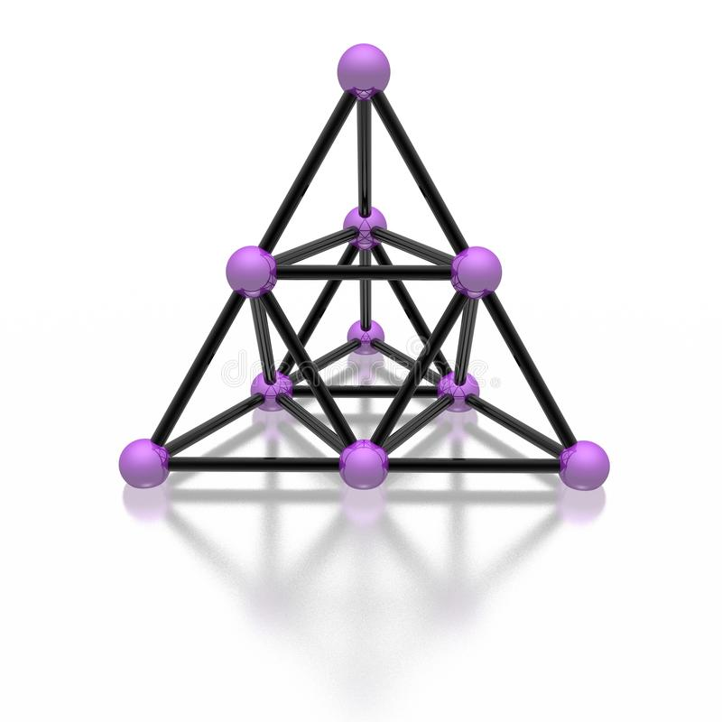 Magnetische Pyramide stock abbildung