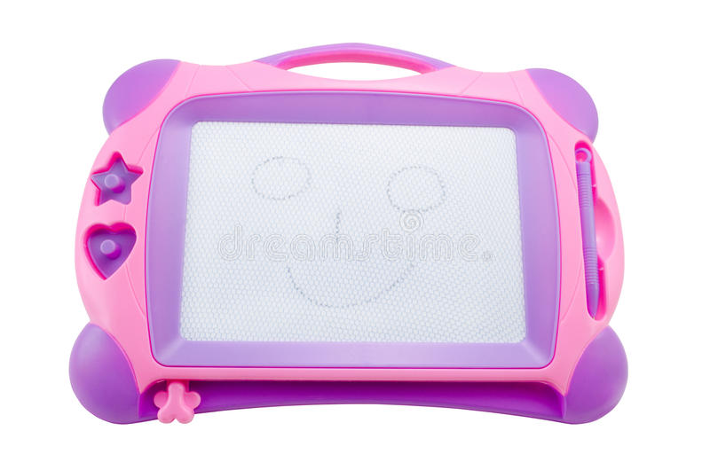 Magnetische Tablette der Kinder für Zeichnung lizenzfreies stockfoto