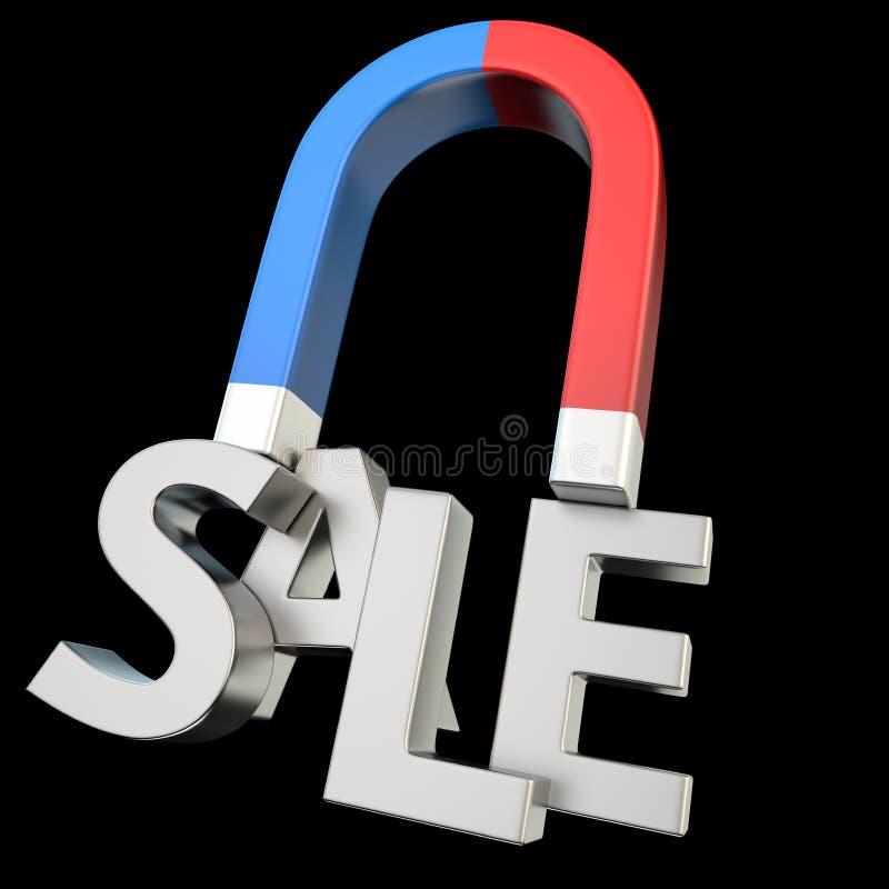 Magnetisera SALE stock illustrationer