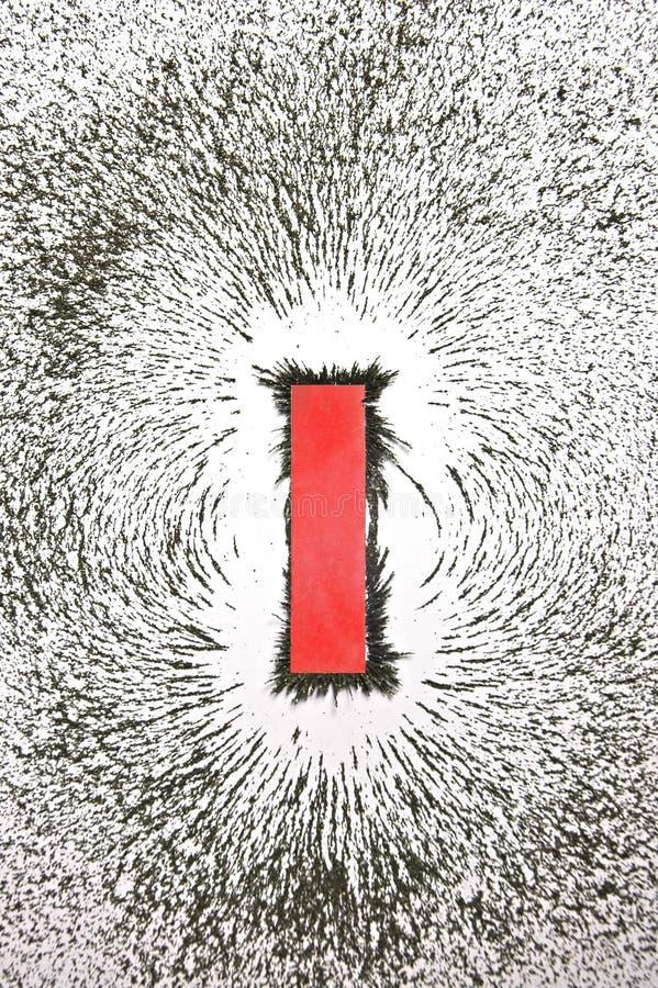 magnetisk modell för fält arkivbild