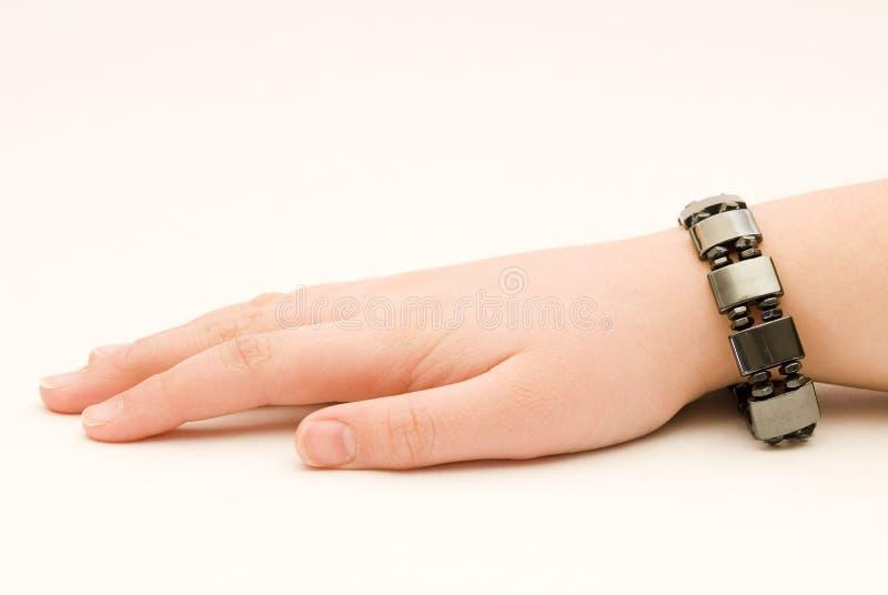magnetiskt armband royaltyfria foton