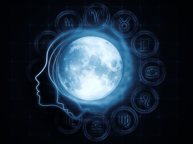 Magnetismo lunar ilustração royalty free