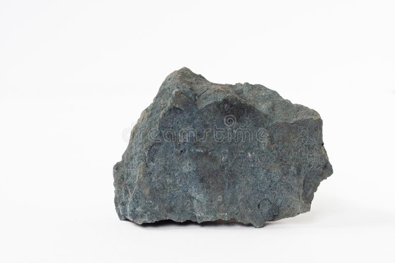 Magnetite mineral also iron ore on white background royalty free stock images