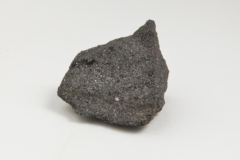 Ore magnetite on white background royalty free stock images