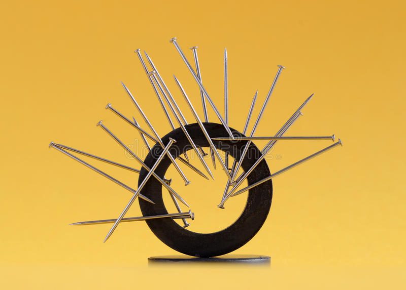 Download Magnetized pins stock photo. Image of magnetized, power - 24897616