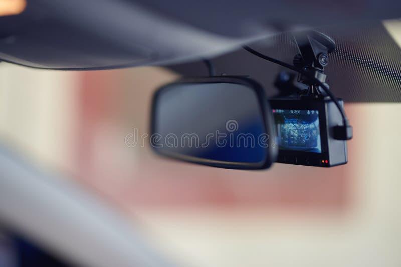 Magnetofonowy samochodowy dashcamera fotografia stock