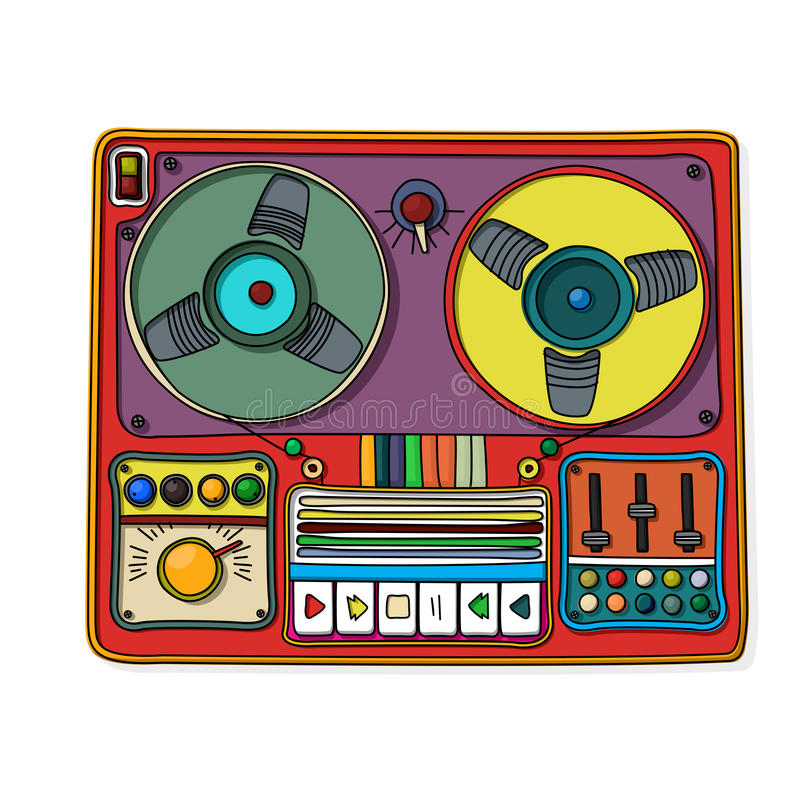Download Magnetophone icon stock vector. Image of 1970s, antique - 32431607