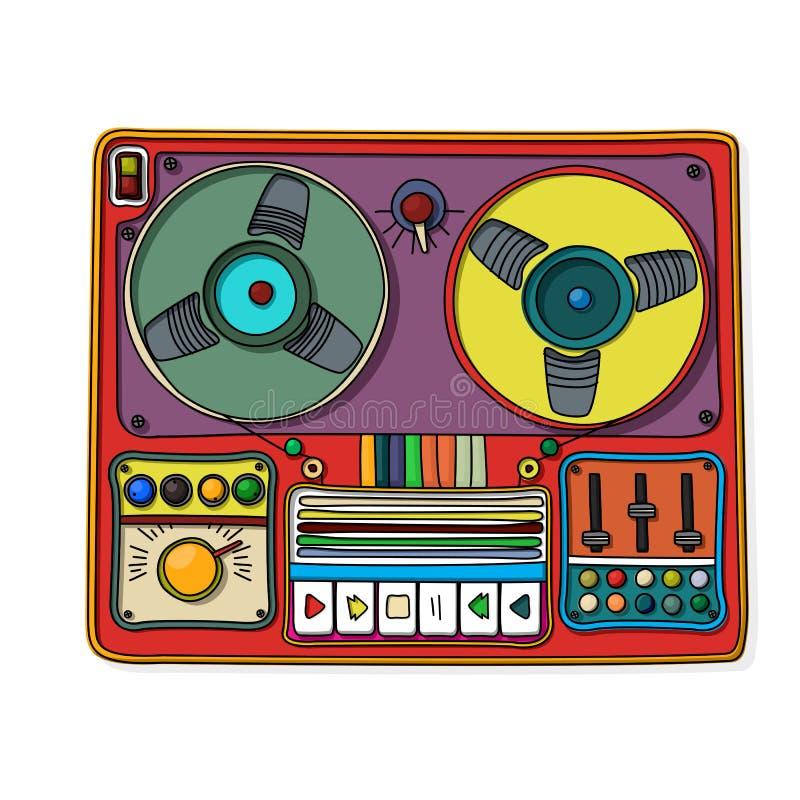 Magnetophone Ikona Fotografia Royalty Free