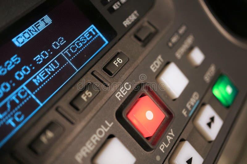 Magnetoscopio di radiodiffusione fotografia stock libera da diritti