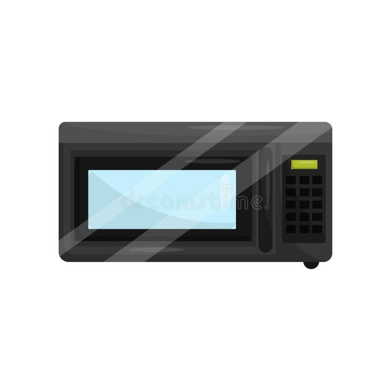Magnetron voor kok of hittevoedsel Huishoudenpunt Moderne technologie Vlakke vector voor promoaffiche van keuken vector illustratie