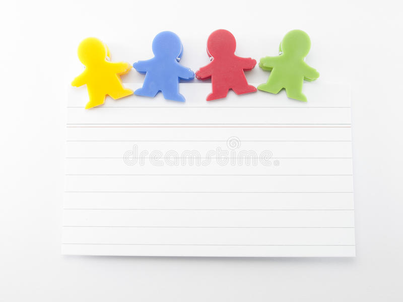 Magnets shaped kids colors with note stock image