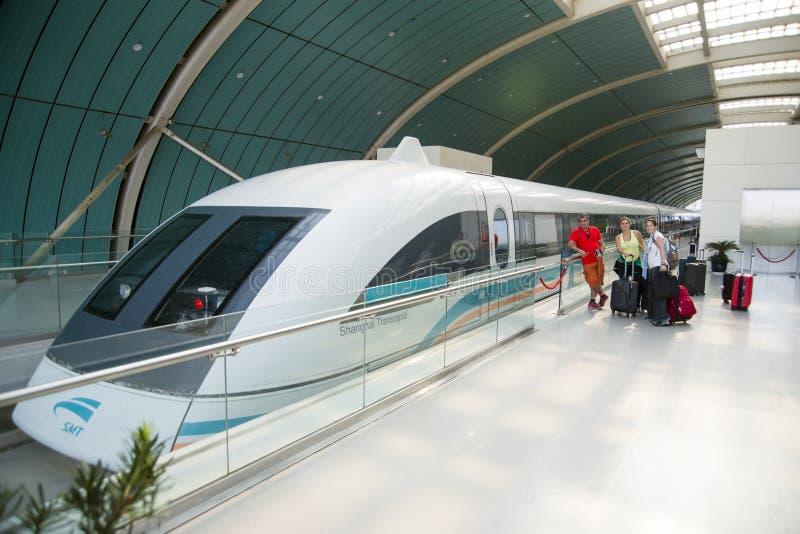 Magnetschwebebahn oder Shanghai Transrapid stockfoto