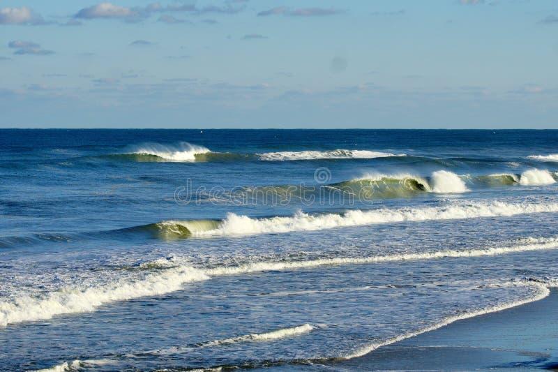 Magnificant Seascape av stränderna av North Carolina arkivbilder