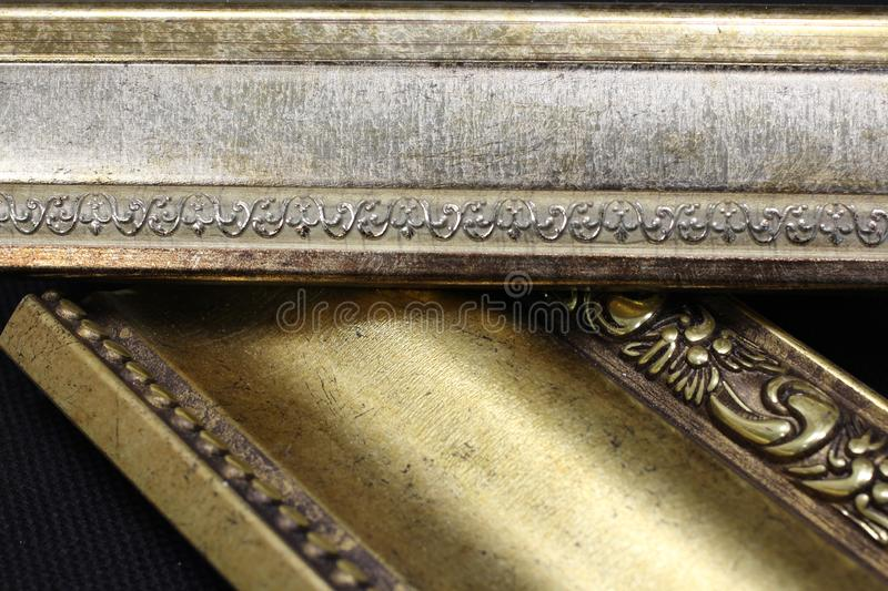 Magnificent beautiful cornices for interior decorative elements royalty free stock photos