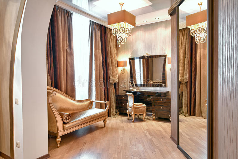 Magnificent bedroom stock photos