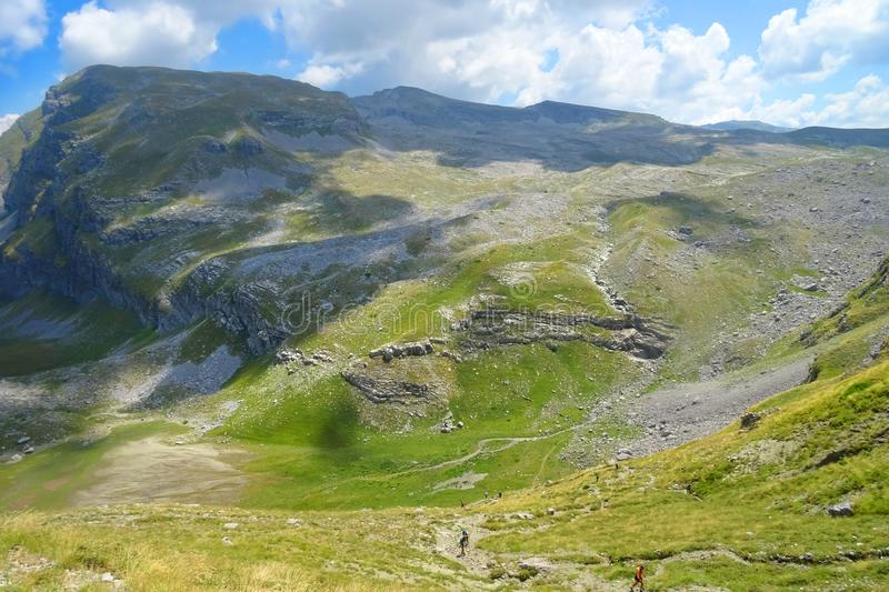 A breathtaking panoramic view of Mountain Tymfi in Epirus - Greece royalty free stock images