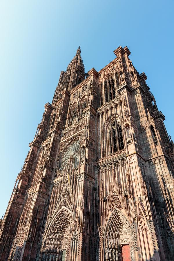 The magnificent cathedral of Strasbourg royalty free stock photo