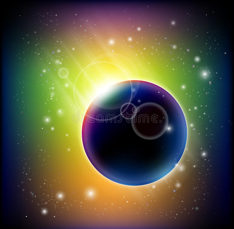 Download Magnificent  comet stock vector. Image of fatal, asteroid - 15242423