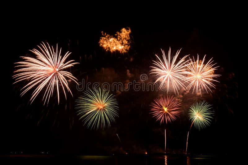 Magnificent fireworks royalty free stock photo