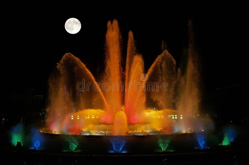 The Magnificent Fountains Royalty Free Stock Photography