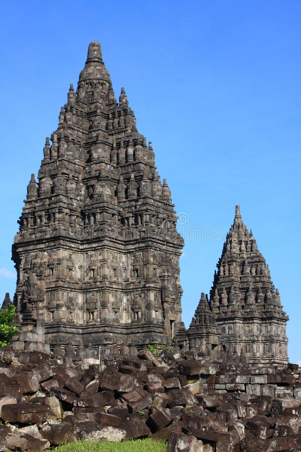 Magnificent Hindu Temple. Rara Jonggrang: Magnificent Hindu Temples in Indonesia, Central Java, Yogyakarta royalty free stock image