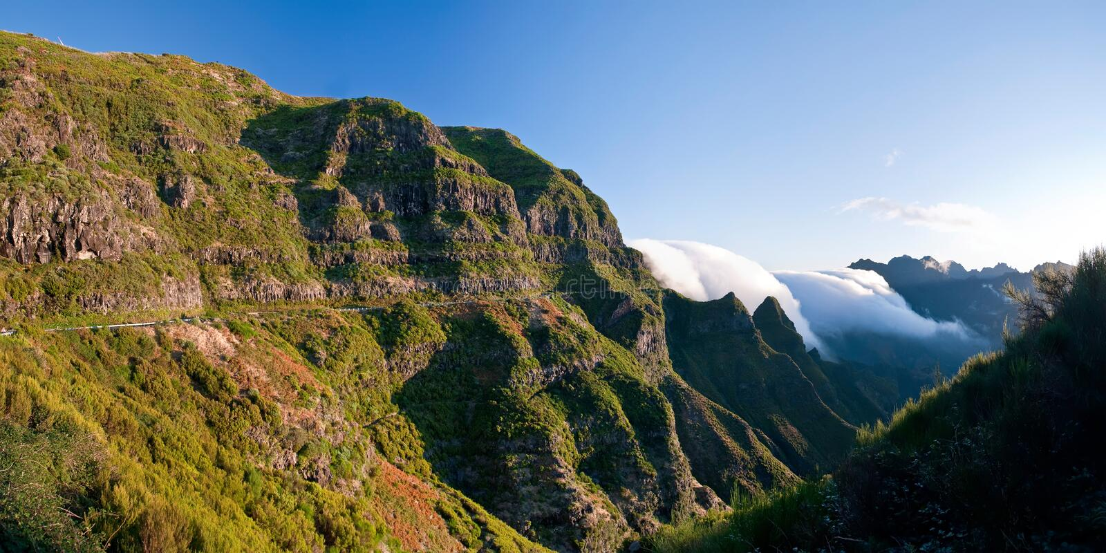 The magnificent inland of the island of Madeira stock photography