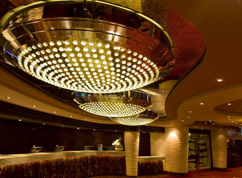 Magnificent interiors and rest on cruise the ship royalty free stock images