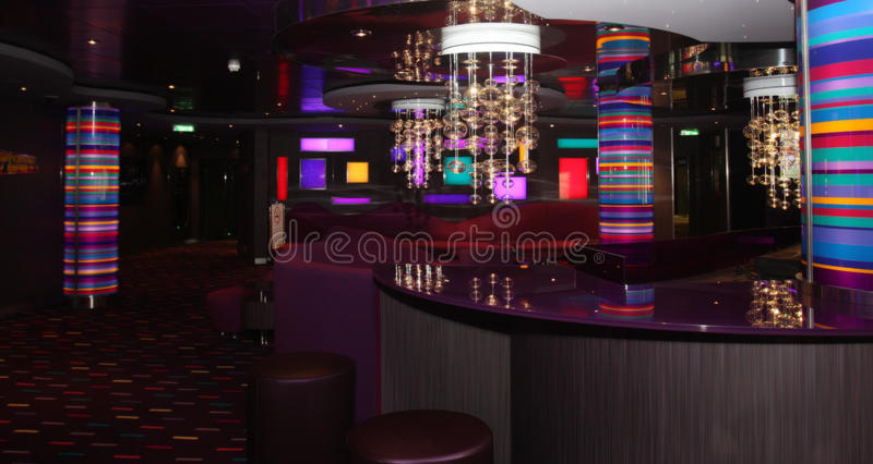 Magnificent interiors and rest on cruise the ship royalty free stock photo