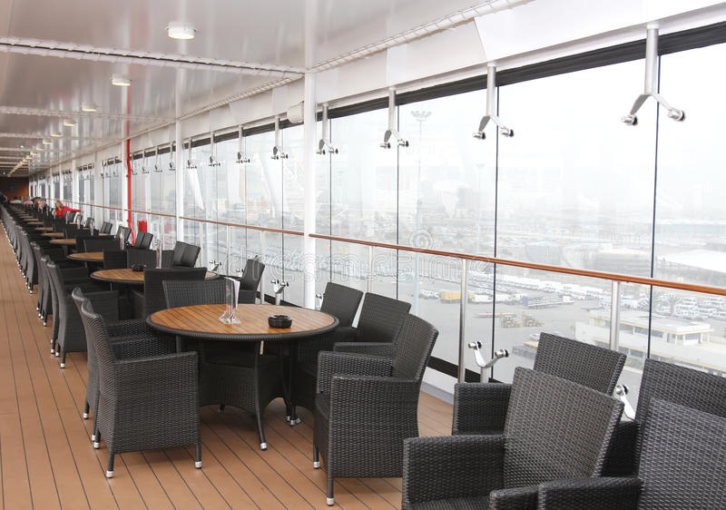Magnificent interiors and rest on cruise the ship royalty free stock image