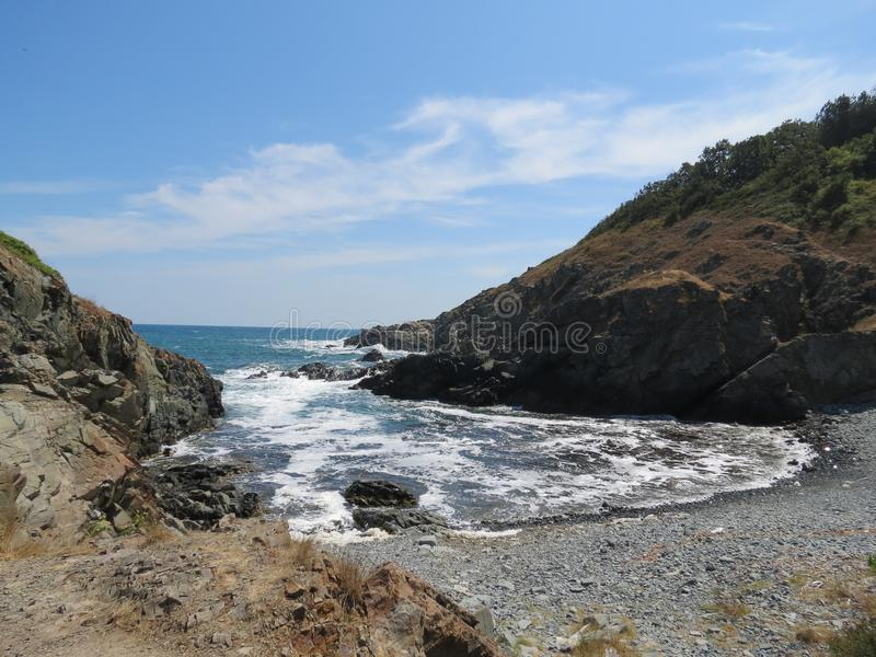 Magnificent landscapes of the Black Sea stock photos