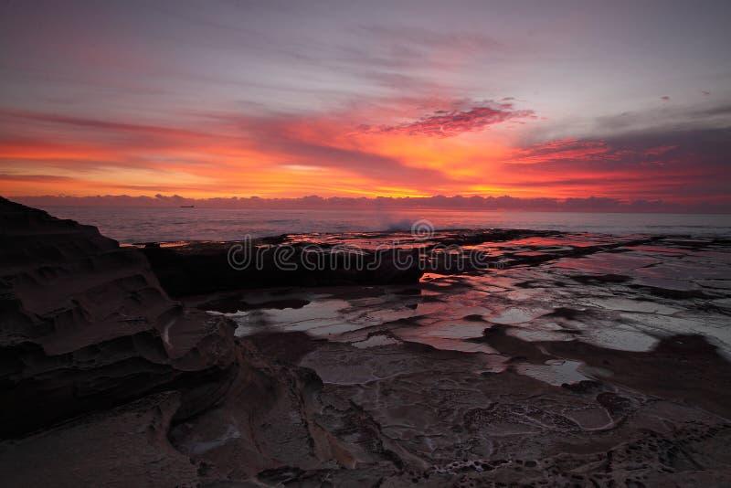 Magnificent ocean sunrise stock photo