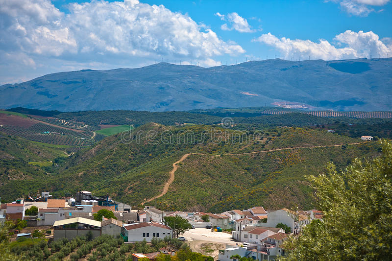 Download Magnificent Panorama Of Small Town In Andalusia Stock Photo - Image: 21980572