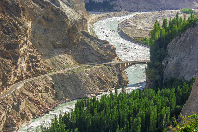 The magnificent Road of KKH stock photo