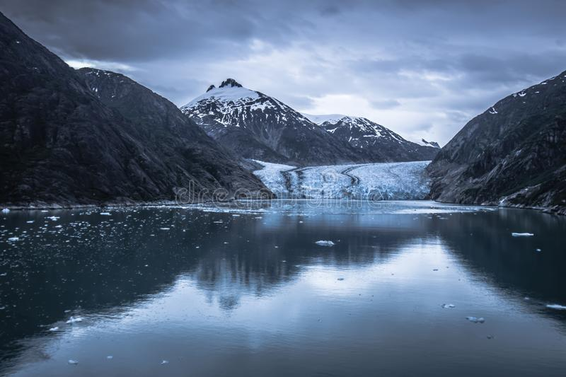 Magnificent Sawyer Glacier at the tip of Tracy Arm Fjord royalty free stock images