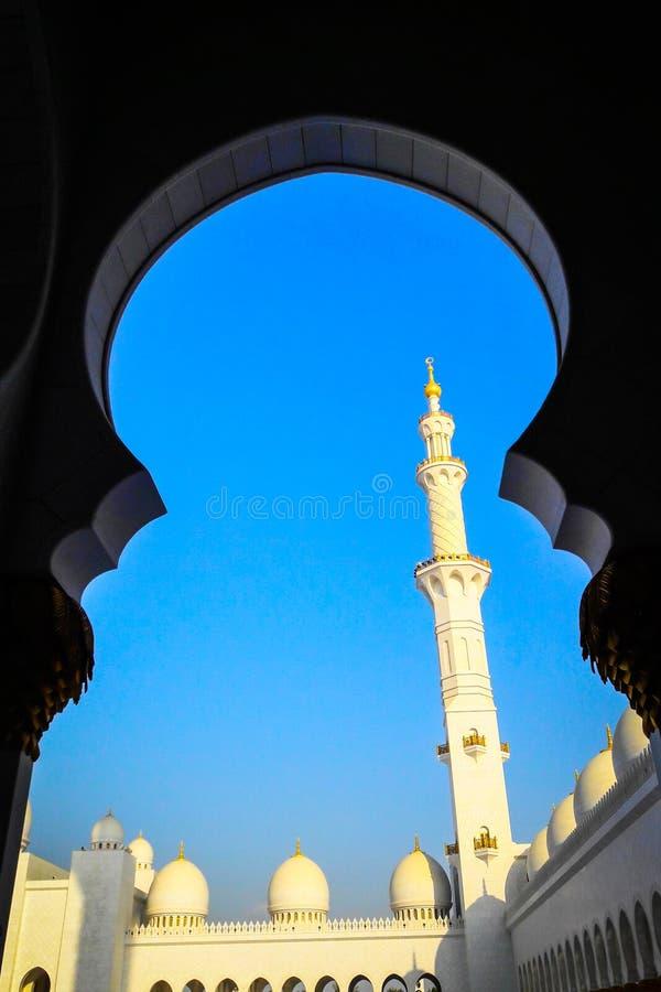 Magnificent Sheikh Zayed Grand Mosque Abu Dhabi UAE stock photos