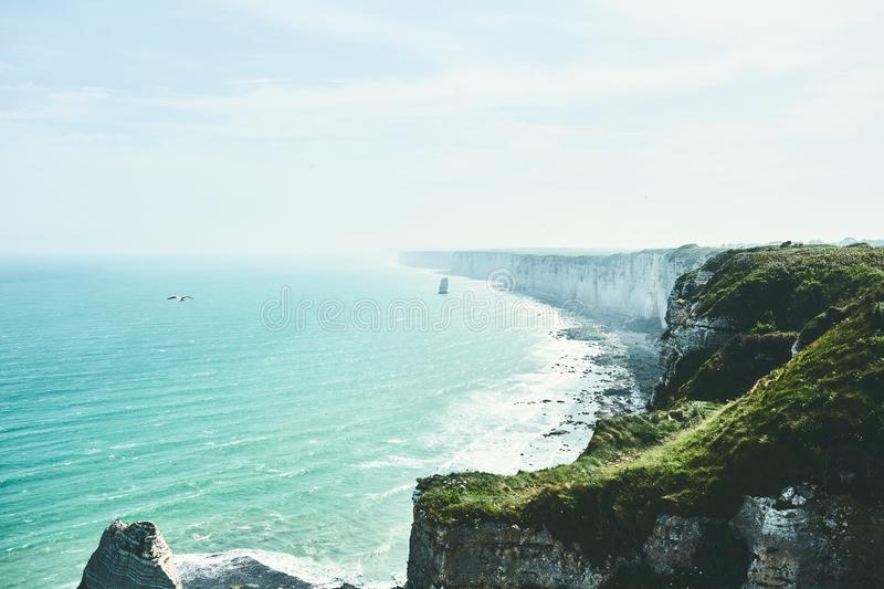 Magnificent shores of the Etretat royalty free stock photos