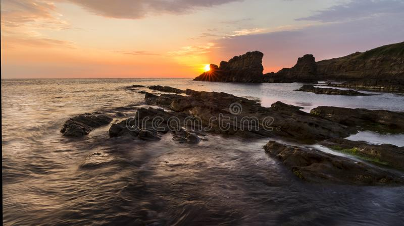 Magnificent sunrise Sinemorets, Bulgaria - Image royalty free stock photo