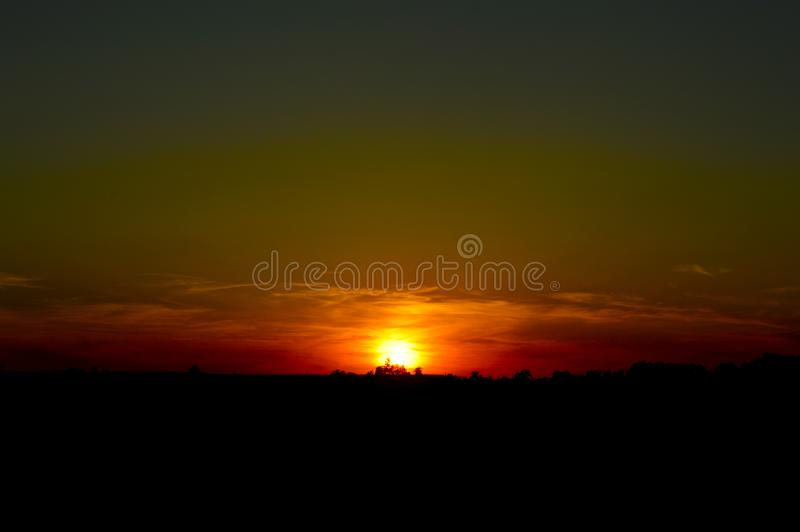 Magnificent sunset over the lake stock images