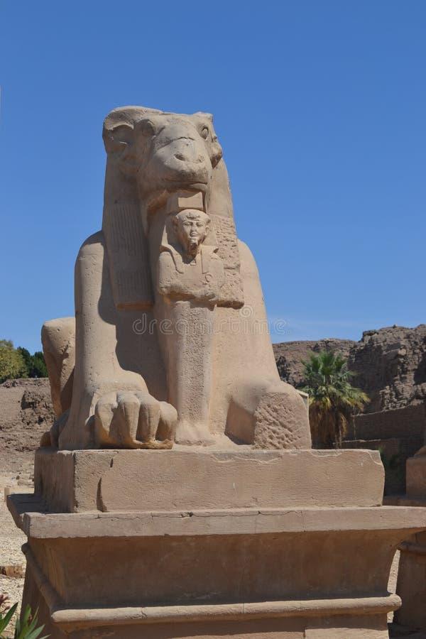 Temple of the Sun God Amon-Ra royalty free stock photography