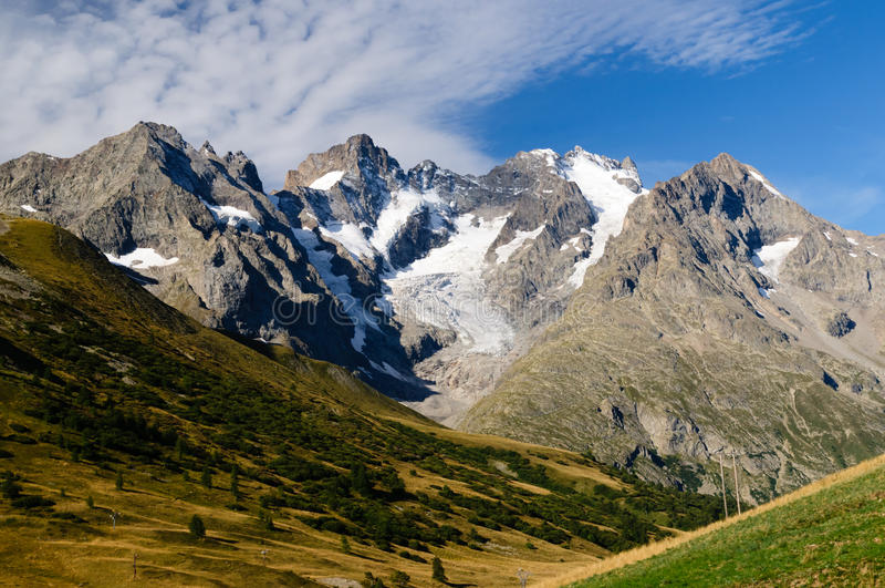 Download Magnificent View On Glaciers Of Ecrins Stock Image - Image: 27307549