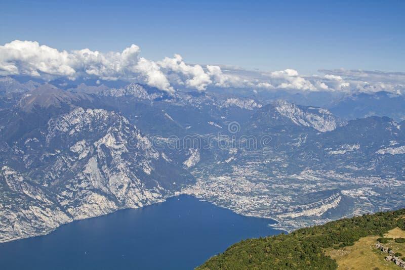 View from Altissimo on lake Garda royalty free stock photos