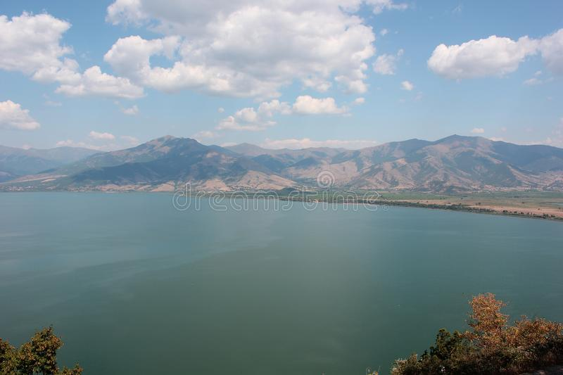 Magnificent view at Prespes Lake Florina Greece. Europe royalty free stock images