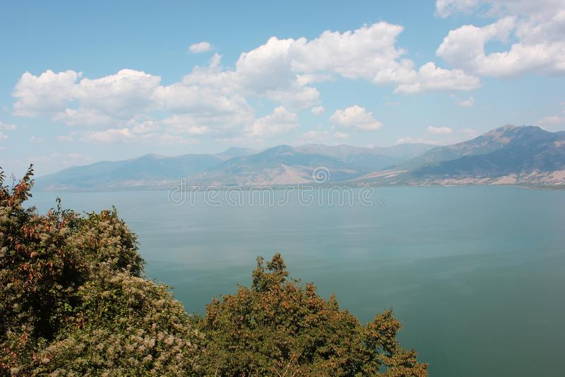 Magnificent view at Prespes Lake Florina Greece. Europe royalty free stock photos