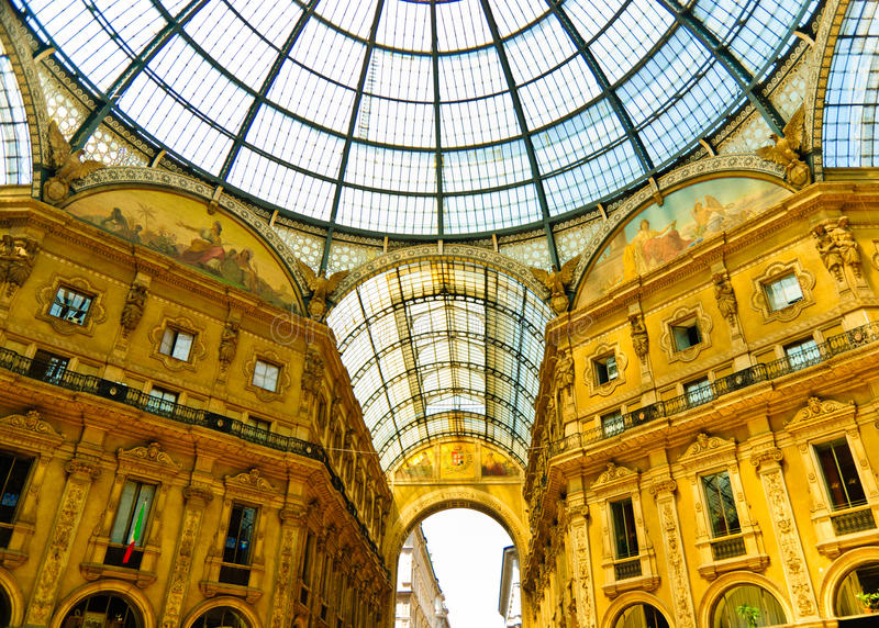 Magnificent Vittorio Emmanuele Gallery, Milan Royalty Free Stock Image