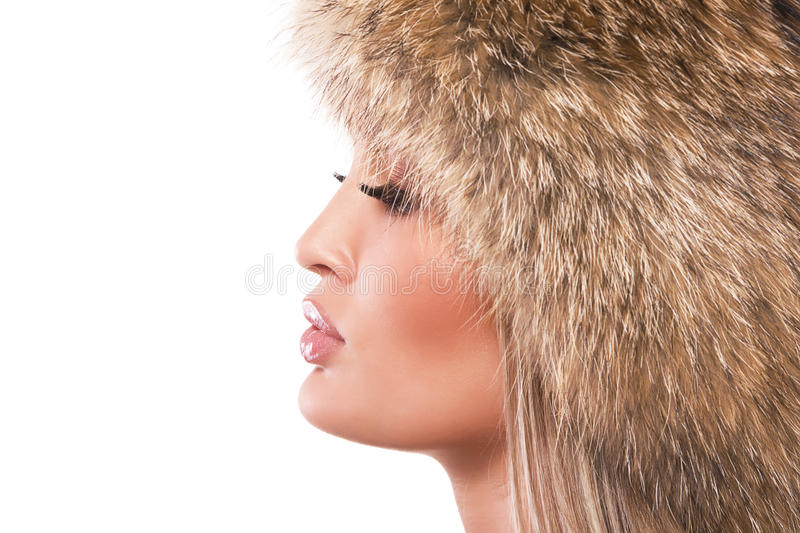 Download Magnificent Woman In Fur Hat Stock Photo - Image: 16151360