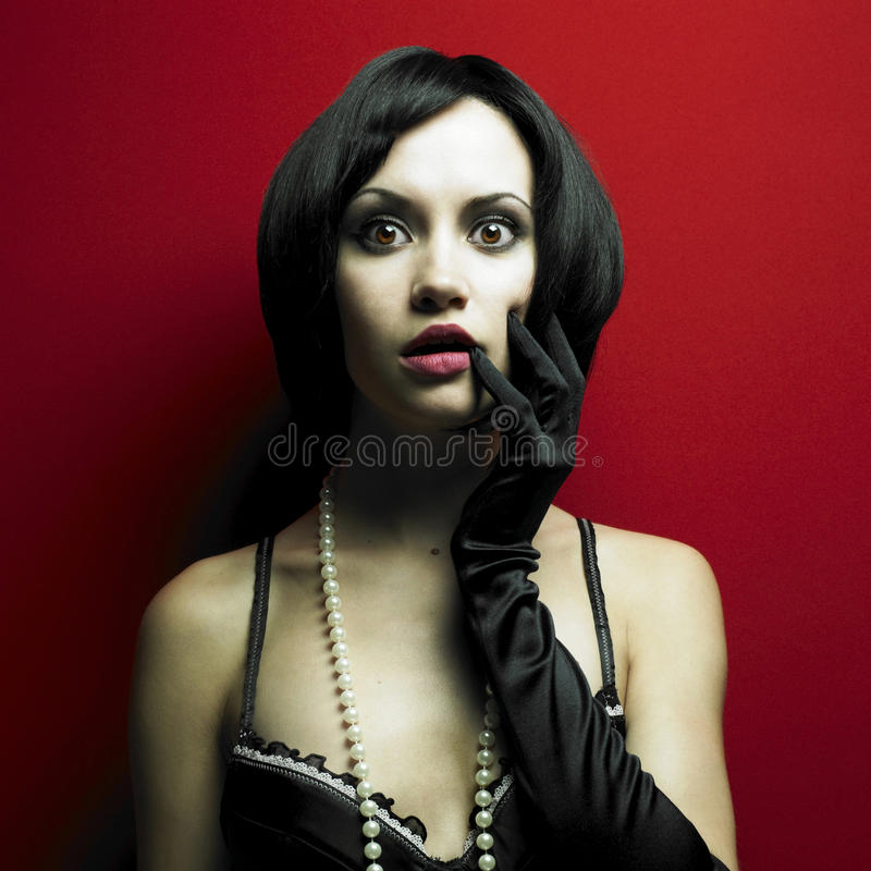 Magnificent Young Woman In Corset Royalty Free Stock Photography