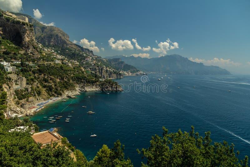 Magnificient Amalfi kust fotografering för bildbyråer