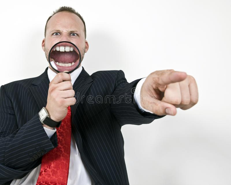 Magnified teeth royalty free stock photography